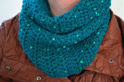 Crochet Pattern Green Cowl Scarf Size Will Fit Teens And Adults