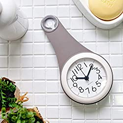 Timecapsule Bathroom Waterproof Rollable Quartz Pendant Clock (Grey)