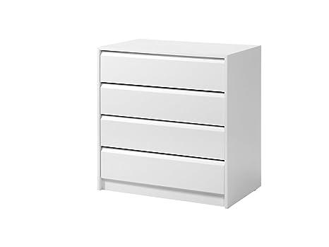 Cassettiera Larghezza 50 Cm.Cassettiera A 4 Cassetti 60 Cm Di Larghezza Colore Bianco Amazon