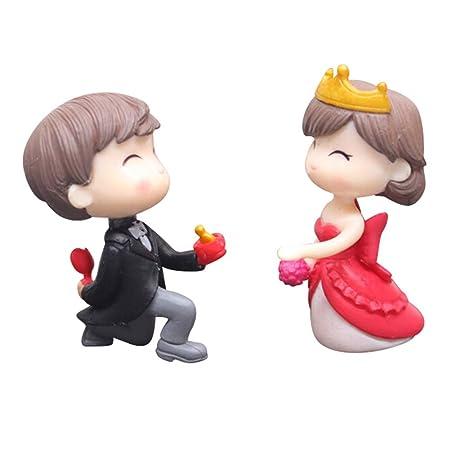 Broom Bride And Groom Couple Figurine Wedding Cake Topper Decoration