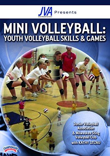 Kathy Litzau: Junior Volleyball Association presents Mini Volleyball: Youth Volleyball Skills & Games (DVD) - Volleyball Coaching Dvd