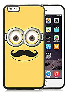 Personalized Design iPhone 6plus Despicable Me with Mustache 48 Cell Phone Tpu Cover Case for Iphone 6 Plus 5.5 Inch Black