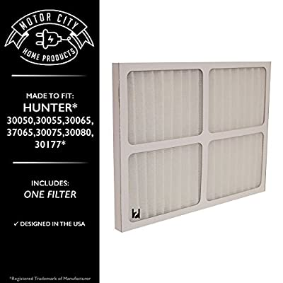 Hunter 30920 Compatible Air Purifier Filter, Motor City Home Products Brand Replacement