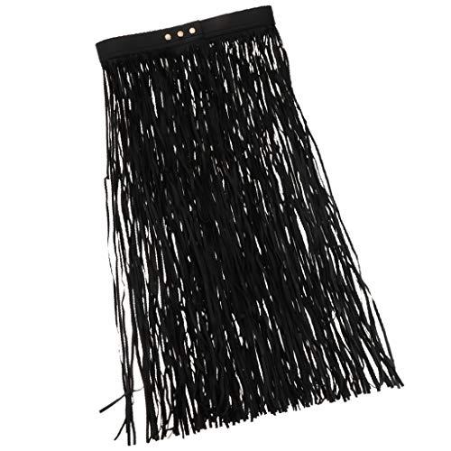 Boho Belt Tassel Waist Dress Long PU Hippie Club Leather MagiDeal Waist Skirt Women HIxzEqw8
