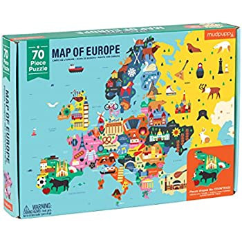 Mudpuppy Map of Europe Geography Puzzle (70 Piece)