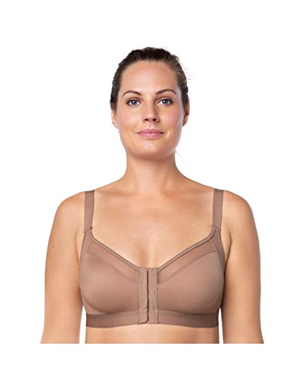 280d95ad1b Leonisa Back Support Posture Corrector Wireless Sports Bra for Women with Contour  Cups  Amazon.co.uk  Clothing