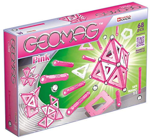 - Geomag - PINK - 68-Piece Magnetic Building Set, Certified STEM Construction Toy, Safe for Ages 3 and Up