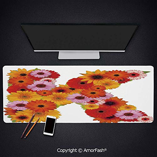 Gaming Mouse Pad Custom,Large,Non-Slip Rubber Base,4mm Thick,35.5