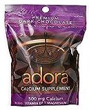 Adora Calcium Supplement Disk, Organic Dark Chocolate, 30 Count - 500 mg