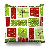 iDecorDesign Throw Pillow Covers Birthday Color Boxes Bow Box Celebrate Celebration Christmas Home Decor Pillow Case Square Size 16 x 16 Inches Pillowcase  We promise you of pleasant service about total refund and easy exchange in order here, we will...