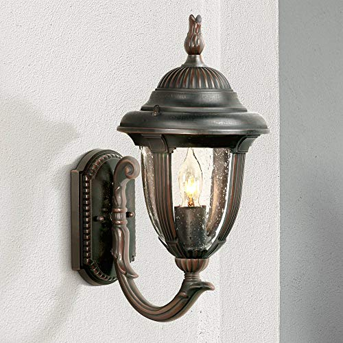 Casa Sierra Traditional Outdoor Wall Light Fixture Carriage Style Upbridge Bronze 14 3/4