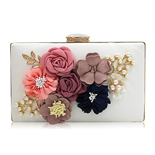 fiori sposa da pochette a donna da White Pochette sera borse da 7PqtfnxwA