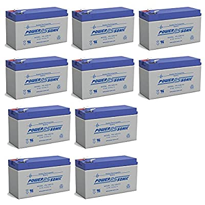 UPG UB1290 12V 9AH Sealed Lead Acid Battery F1 Terminal - 10 Pack