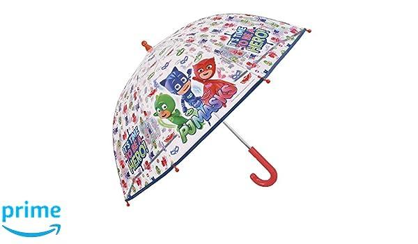 Paraguas Pj Masks de Niño - con estampado Catboy Owlette y Gekko. - Paraguas Los Pijamasques transparente con dibujos resistente y largo - Apertura de ...
