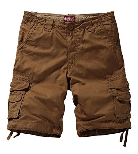Match Men's Twill Comfort Cargo Short Without Belt #S3612 (Label Size 6XL/44 (US 42), Mud)