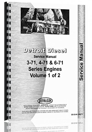 amazon com detroit diesel 3 71 4 71 6 71 in line engine 2 vol rh amazon com detroit diesel 4-71 series manual pdf detroit diesel 71 series service manual free download