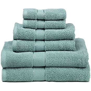 Premium Bamboo Cotton 6 Piece Towel Set  2 Bath Towels  2 Hand Towels and 2  Washcloths    Natural  Ultra Absorbent and Eco Friendly  Sea Green. Amazon com  Pinzon Blended Egyptian Cotton 6 Piece Towel Set  Grey
