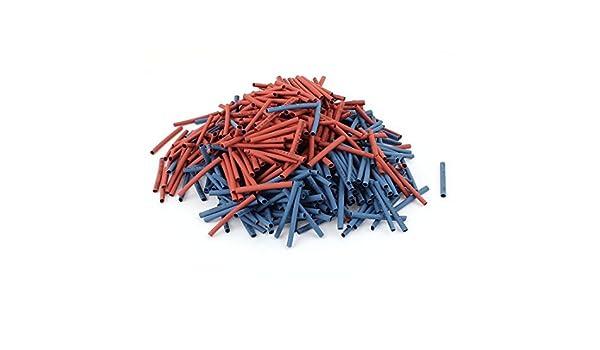 eDealMax 800Pcs 2.5mm 2: 1 Tubo del encogimiento del calor manguitos de conexión arrollada Kit Rojo Azul: Amazon.com: Industrial & Scientific