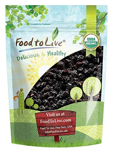 Organic Bing Cherries, 2 Pounds - California Sun-Dried Sour Cherries, Non-GMO, Kosher, Putted, Tart, Unsweetened, Unsulfured, Non-Infused, Non-Oil Added, Non-Irradiated, Vegan, Raw, Bulk by Food to Live (Image #8)