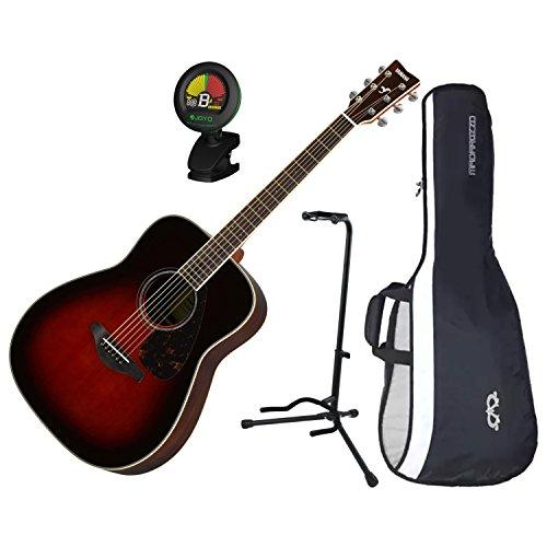 Yamaha FG830TBS Solid Sitka Spruce Top Folk Acoustic Guitar Tobacco Sunburst w/ ()