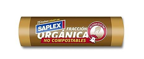 Saplex Bolsas de Basura Organica - 15 Unidades: Amazon.es ...
