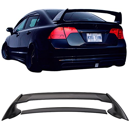 Civic Honda Spoiler - 06-11 HONDA CIVIC 4DR REAR TRUNK SPOILER WING (ABS) MUG MUGEN