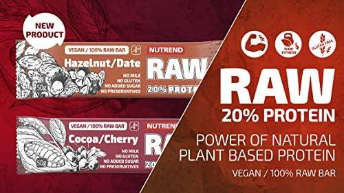 Nutrend RAW Probiotika Proteinriegel 6x50g MIX Geschmack, delikater Geschmack einzigartig Vegan-Pack