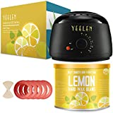 【Lemon Essential Oil】Yeelen Wax Warmer Hair Removal Waxing Kit with Essential Hard Wax Beans 10.58oz and 10 Wax Applicator Sticks At-home Waxing