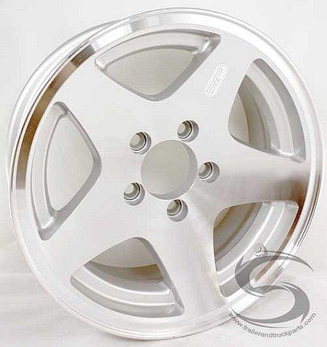 (15 x 6 Star Aluminum Trailer Wheel 5 on 4.50 Bolt Pattern)