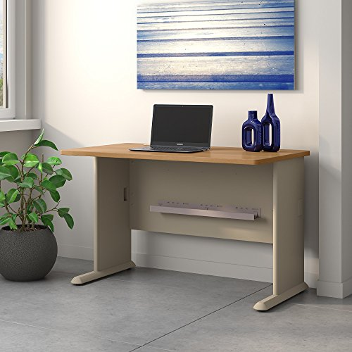 Light Oak Desk (Bush Business Furniture Series A 48W Desk in Light Oak and Sage)