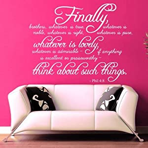 Amazoncom Wall Decals Quotes Bible Verse Psalm Philippians - Wall decals quotes bible