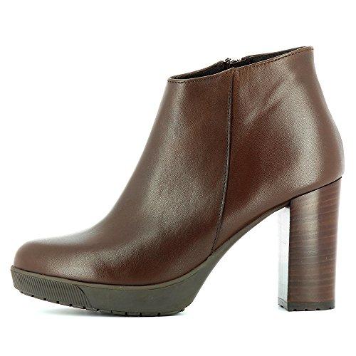 Evita Shoes Ubalda Damen Stiefelette Glattleder Braun