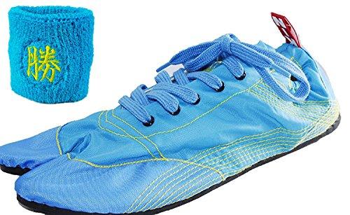 効果的不純アロング[無敵]MUTEKI 【ランニング足袋】[リストバンド付き]伝統職人の匠技が創り出すランニングシューズ《008-muteki-r-サックスブルー》
