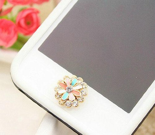 Tech360cc Crystal Flower Iphone Home Return Keys Buttons Sticker for Iphone 4s Iphone 5 Ipod Touch Ipa
