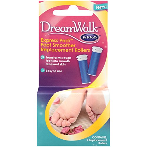 Dr. Scholl's DreamWalk Express Pedi Foot Smoother Replacement, 2 Rollers (Scholl Pedi Express)