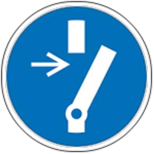 Cartel Mandamiento caracteres según ISO 7010 - contra el ...