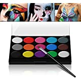 schminkf Arben ultimatives Party Set Xpassion sicheres nichtto xisches face-painting neoprene fronte corpo pittura Set di 1 Pennelli 15 colori per bambini Parties Body Painting Halloween make up