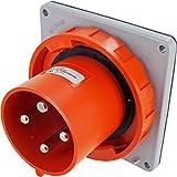 4100B12W Pin & Sleeve Device Ip67 Male Inlet 100A 125/250Vac 3P 4W Watertight