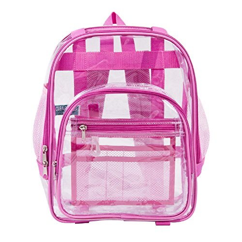 Industrial Grade Certified Lead-Free Freeze-Proof Toddler Small Clear Backpack Pink