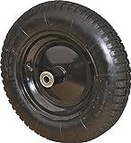 Rocky Mountain Goods Wheelbarrow Wheel 16'' Air Filled - For 6 & 8 cubic ft. wheelbarrow wheels including Jackson, True Temper, Ames, Ace, - Tread Grip Pattern (16'')