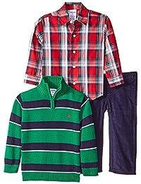 Conjunto de suéter, camisa de vestir y pantalón de 3 piezas para niños IZOD para niños