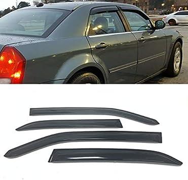 Topline For 2005-2010 Chrysler 300//Magnum Sun Rain Guard Vent Shade Window Visor