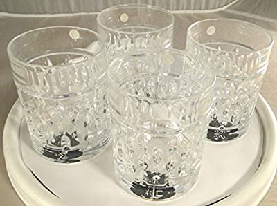 Ralph Lauren Aston Double Old Fashioned Glasses Set of Four (4)
