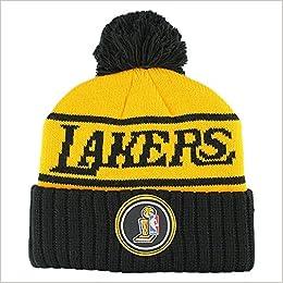 Mitchell   Ness los Angeles Lakers Championship polsino NBA Knit Hat W pom   Amazon.it  Libri 37063206b856