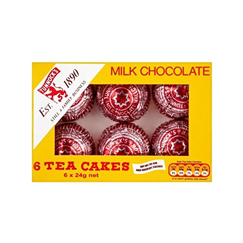 Cake Biscuit Chocolate - Tunnock's Milk Chocolate Teacakes (6 per pack - 144g)