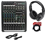 8 ch mixer - Mackie PROFX8v2 Pro 8 Ch Compact Mixer wEffects, USB PROFX8 V2+Headphones+Cable