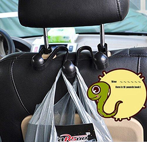 Calmpal Universal Car Back Seat Headrest Hanger Holder Hooks for Bag Purse Cloth Grocery 4327102540