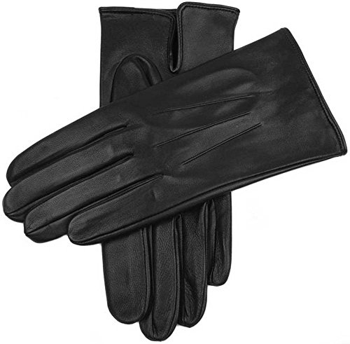 Dents Mens Milton Unlined Hairsheep Leather Gloves - Black - Large