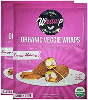 product image for Raw Organic Energizing Morning Veggie Wraps | Wheat-Free, Gluten Free, Paleo Wraps, Non-GMO, Vegan Friendly Made in the USA (2 Pack)
