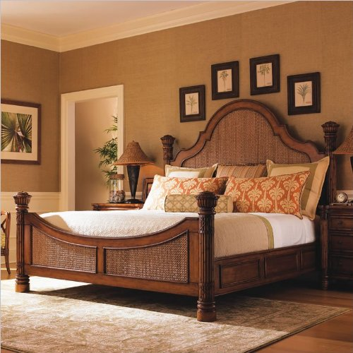 Queen Plantation Bed - Tommy Bahama Home Island Estate Round Hill Panel Bed in Plantation - Queen